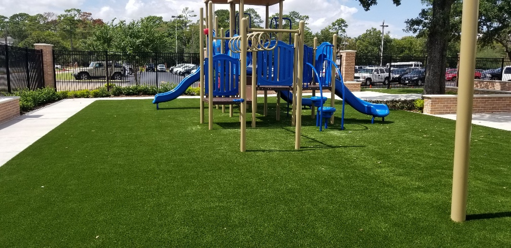 hartford playground with synthetic grass turf