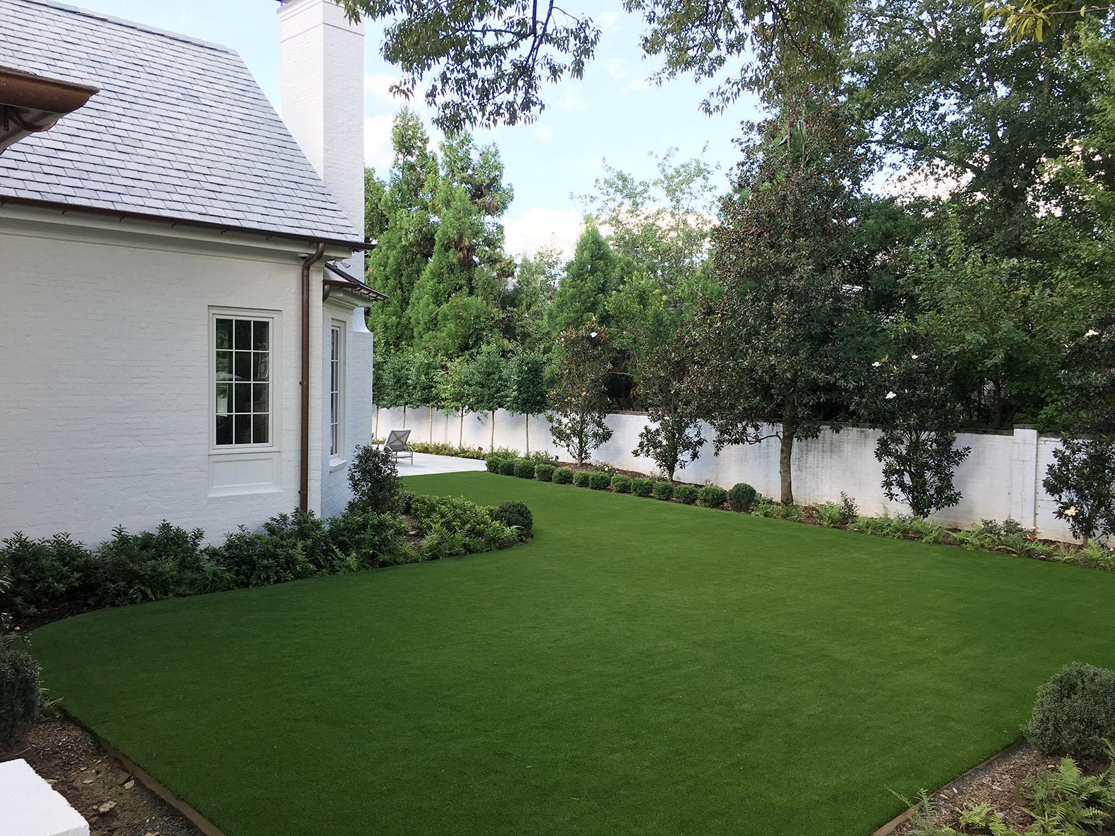 backyard artificial grass lawn